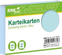 Verlag Karteikarten DIN A7, blanko, blau, 100 Karten