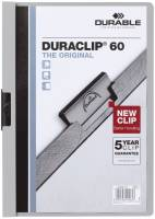 DURABLE Klemmmappe Duraclip A4 grau 2209 10 60 Blatt