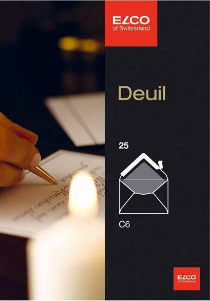 Briefumschlag Deuil C6, hochweiß, gummiert, ohne Fenster, 100 g, 25 Stück von ELCO