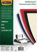 Deckblätter Chromolux A4 Deckblätter, blau, 100 Stück