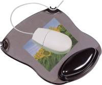 Mousepad mit Gelauflage grau transparent