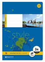 Heft LIN3R A4 16 Blatt 80g qm 21 Doppellinien mit Rand