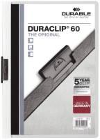 DURABLE Klemmmappe Duraclip A4 weiß 2209 02 60 Blatt