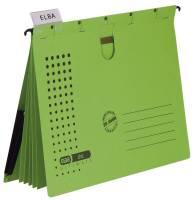 Organisationshefter chic Karton (RC) 230 g qm, A4, grün, 5 Stück