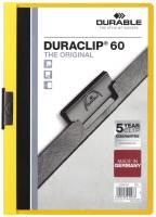 DURABLE Klemmmappe Duraclip A4 gelb 2209 04 60 Blatt