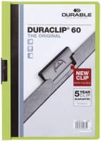 DURABLE Klemmmappe Duraclip A4 grün 2209 05 60 Blatt