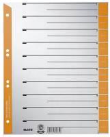1652 Trennblätter A4 Überbreite, orange, farbiger Lochrand, 100 Stück