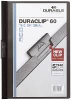 DURABLE Klemmmappe Duraclip A4 schwarz 2209-01 60 Blatt
