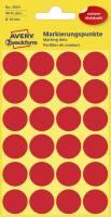 3004 Markierungspunkte Ø 18 mm, 4 Blatt 96 Etiketten, rot