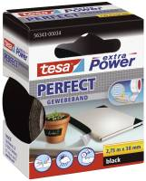 Gewebeklebeband extra Power Gewebeband, 2,75 m x 38 mm, schwarz