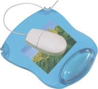 Mousepad mit Gelauflage blau transparent