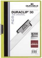 DURABLE Klemmmappe Duraclip A4 grün 2200 05 30BL