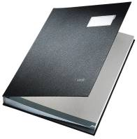LEITZ Unterschriftsmappe 20 Fächer schwarz 57000095 Einband PP-kaschiert