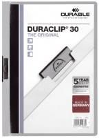 DURABLE Klemmmappe Duraclip A4 grau 2200 10 30BL