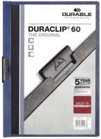 DURABLE Klemmmappe Duraclip A4 dunkelblau 2209 07 60 Blatt