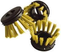 Rundbürsten Ø 30 gelb zum Einsatz in Ringgummimatten, Pack mit 10 Stück