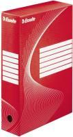 Archiv Schachtel DIN A4, Rückenbreite 8 cm, rot