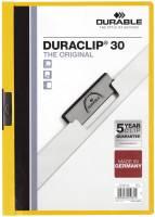 DURABLE Klemmmappe Duraclip A4 gelb 2200 04 30BL