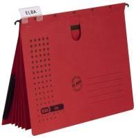 Organisationshefter chic Karton (RC) 230 g qm, A4, rot, 5 Stück