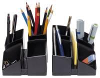 Schreibtisch Köcher SCALA 4 Fächern, schwarz