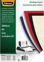 FELLOWES Einbanddeckel Chromolux A4 rot FW5378303 100ST 250g