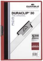 DURABLE Klemmmappe Duraclip A4 rot 2200 03 30 Blatt