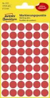 AVERY ZWECKFORM Etiketten Ø12 mm rot 270 Stück 3141