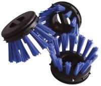 Rundbürsten Ø 30 blau zum Einsatz in Ringgummimatten, Pack mit 10 Stück