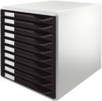 5281 Schubladenset Formular Set A4 C4, 10 geschlossene Schubladen, lichtgrau schwarz