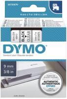 DYMO Schriftband D1 9mmx7m transp./sw S0720670 40910