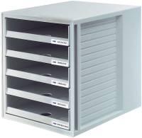 HAN Schubladenbox lichtgrau 1401-11 5 offene Schuebe
