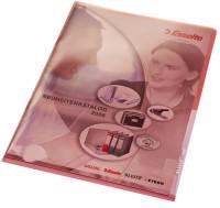 4100 Sichthülle Premium, A4, PVC, dokumentenecht, rot