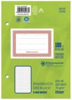 Ringbuchblock A6 100 Blatt 70g qm 5mm kariert