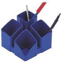 Schreibtisch Köcher SCALA 4 Fächern, blau