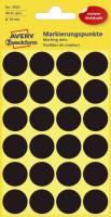 3003 Markierungspunkte Ø 18 mm, 4 Blatt 96 Etiketten, schwarz