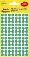 3012 Markierungspunkte Ø 8 mm, 4 Blatt 416 Etiketten, grün