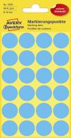 3005 Markierungspunkte Ø 18 mm, 4 Blatt 96 Etiketten, blau