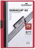 DURABLE Klemmmappe Duraclip A4 rot 2209 03 60 Blatt