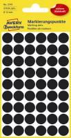 AVERY ZWECKFORM Etiketten Ø12 mm schwarz 270 Stück 3140