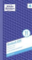 834 Bonbuch, Kompaktblock, mit Kellner Nr , 2 x 50 Blatt, blau