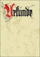 Motiv Papier, Urkunde Calligraphie, A4, 185 g qm, 12 Blatt