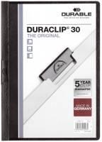 DURABLE Klemmmappe Duraclip A4 schwarz 2200 01 30BL