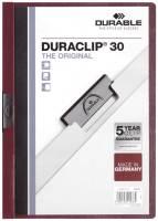 DURABLE Klemmmappe Duraclip A4 aubergine 2200 31 30BL