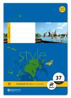 Heft LIN37 A4 16 Blatt 80g qm 9mm liniert perforiert gelocht