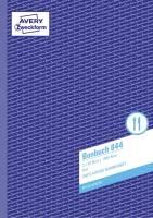 844 Bonbuch, DIN A4, fortlaufend nummeriert, 2 x 50 Blatt, blau, weiß