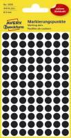 3009 Markierungspunkte Ø 8 mm, 4 Blatt 416 Etiketten, schwarz