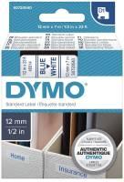 DYMO Schriftband 12mmx7m weiß/blau S0720540 45014