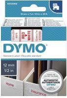 DYMO Schriftband 12mmx7m weiß/rot S0720550 45015