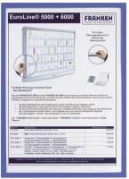 X tra!Line Dokumentenhülle Frame It A4, Hartfolie, matt, blau, 5 Stück®