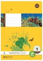 Heft LIN1 A5 32 Blatt 80g qm 5 5 5mm liniert farbig